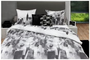 HNL Living Night Sky New York anthrazit (135x200+80x80cm)