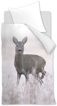 Beddinghouse 143562 Snow Deer Bettwäsche 155 x 220, grau