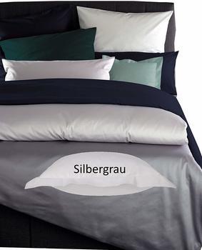Curt Bauer Bettwäsche Uni silbergrau (200x200+2x80x80cm)