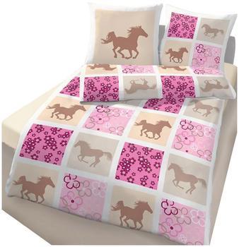 myToys Bettwäsche Pferde rosa (135x200+80x80cm)