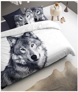 Damai Wolf weiß/grau (135x200+80x80cm)