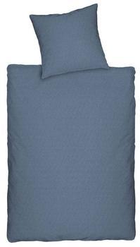 Dormisette Jersey Bettwäsche uni blau [Größe: 155/220+80/80cm]