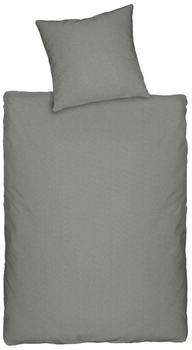 Dormisette Melange-Jersey Q345 grau (135x200+80x80cm)