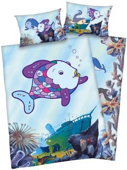 Herding Bettwäsche100x135cm Renforcé - Regenbogenfisch