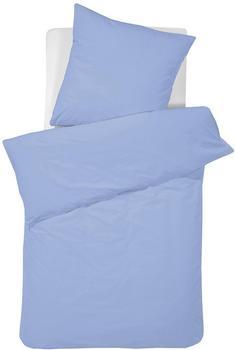 DAMAI Bettwäsche Damai »Pure Uni«, in großer Farbauswahl, blau
