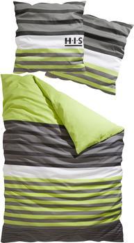 H I S Majoran Linon grün (155x220+80x80cm)