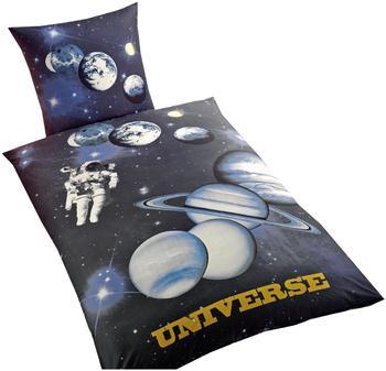 Global Labels Universe Bettwäsche 80x80+135x200cm