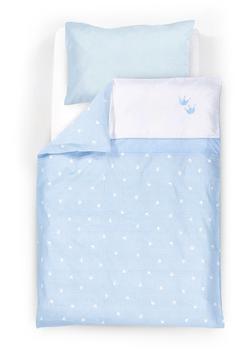 Träumeland Bettwäsche 80x80cm - Krone blau