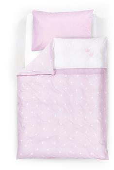 Träumeland Bettwäsche 80x80cm - Krone rosa