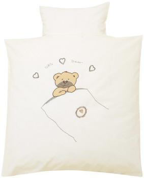 ALVI Bettwäsche Applikationen 100x135 cm - Little Bear beige