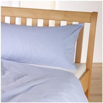 cotonea Edel-Linonbettwäsche uni eisblau 135x200 cm + 80x80 cm