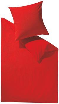 SCHLAFGUT Bettwäsche Uni zitrone (140x200+70x90cm)