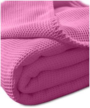 Kneer Pique-Decke La Diva Maison, 150 x 210cm, Farbe:20 pink
