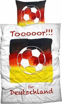 Casatex Bettwäsche, »Tooooor«, mit Fußball Motiv weiß