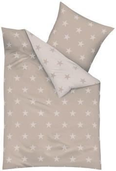 kaeppel Stars Mako-Satin natur (200x200+2x80x80cm)