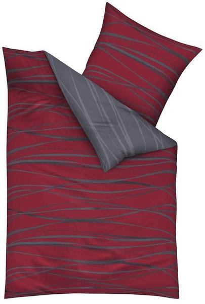 KAEPPEL Motion Mako-Satin rubin (200x200+2x80x80cm)