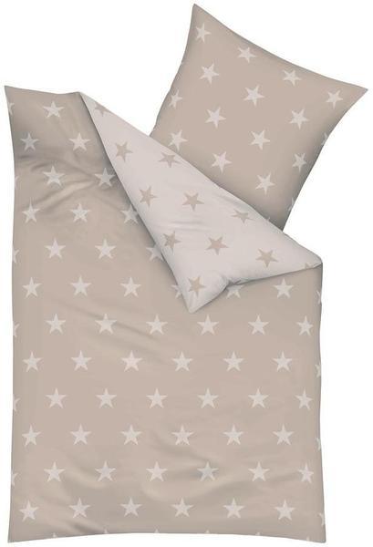 KAEPPEL Stars Mako-Satin natur (135x200+80x80cm)