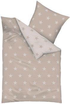 KAEPPEL Stars Mako-Satin natur (155x220+80x80cm)