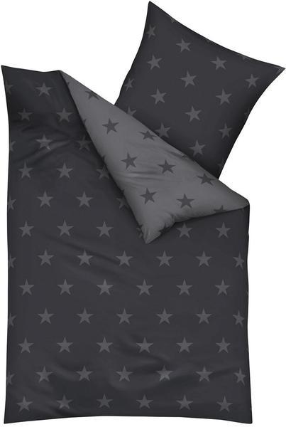 KAEPPEL Stars Mako-Satin zinn (155x220+80x80cm)