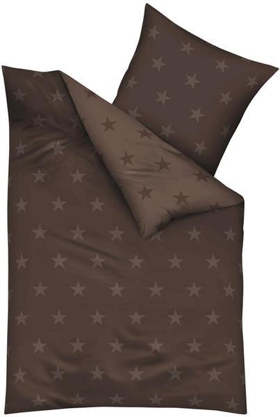 KAEPPEL Stars Mako-Satin braun (155x220+80x80cm)