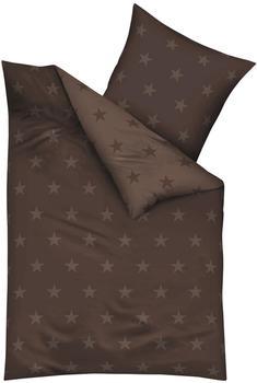 KAEPPEL Stars Mako-Satin braun (200x200+2x80x80cm)