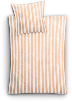 Kleine Wolke Stripe orange (155x220+80x80cm)