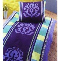 DORMISETTE Edel Flanell Bettwäsche 135x200cm Ornamente Gelb Blau