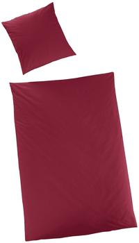H. G. Hahn Satin-Bettdeckenbezug »Sempre« bordeaux, Größe:135x200