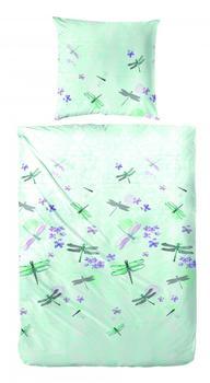 H. G. Hahn Hahn Perkal Bettwäsche133010-055 grün 100% Baumwolle