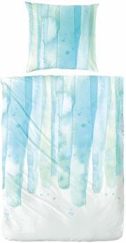 H. G. Hahn Bettwäsche 133014 blau (135x200+80x80cm)