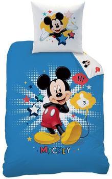 CTI Disney Mickey Star, Baumwoll-Bettwäsche 135x200 - 80x80