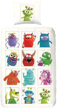 Good Morning! Monsters weiß (135x200+80x80cm)