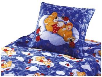 Ido Baby Bettwäsche Renforce Teddy auf Wolke 100x13540x60 cm