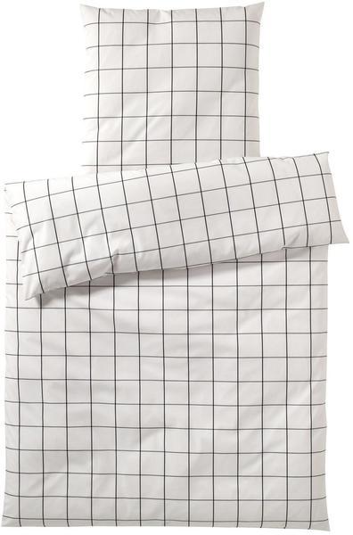 Elegante Bettwäsche 5604 weiß/schwarz (135x200+80x80cm)