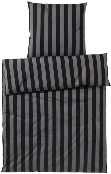 Elegante Bloc Stripe schwarz (135x200+80x80cm)