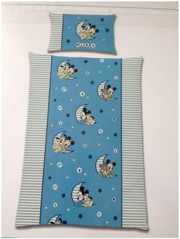 Global Labels Kinder- Bettwäsche Mickey Mouse, Renforcé, 100 x 135 cm