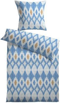 KiNZLER Ikat blau (155x220+80x80cm)