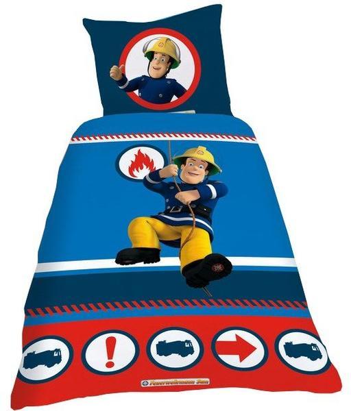 CTI Feuerwehrmann Sam blau 80x80+135x200cm