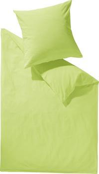 Schlafgut Uni Seersucker Bettwäsche limone (140x200+70x90cm)