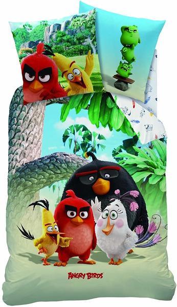 CTI Angry Birds Palm Beach Biber 80 x 80 cm + 135 x 200 cm Flanell