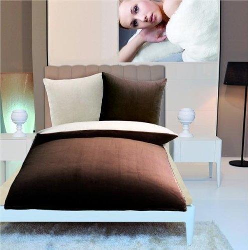 Gözze Cashmere-Feeling 80x80+135x200cm braun/weiß