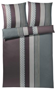 Joop! Cornflower Stripes 2x 80x80 + 200x220cm deep wine