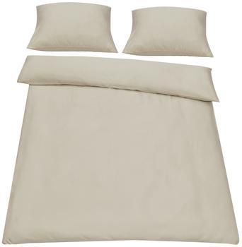 neu.haus [neu.haus] Bettwäsche 200x200cm Sand + Kissenbezug Kopfkissen Bettbezug
