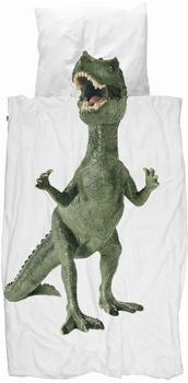Snurk Dinosaurus Rex weiß/grün (135x200+80x80cm)