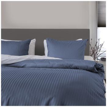 HNL Living Uni Stripe steel blue (135x200+80x80cm)