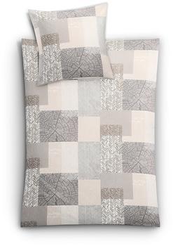 Kleine Wolke Bettwäsche Texture taupe (155x220+80x80cm)