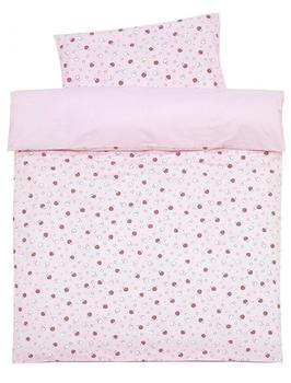 ALVI Bettwäsche Applikationen (100 x 135) Glückspilz rosa