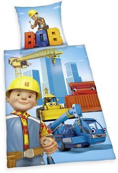Herding Bob der Baumeister Bettwäsche 135x200cm, Flanell
