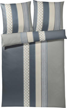 Joop! Cornflower Stripes 2x 80x80+200x200cm deep coal