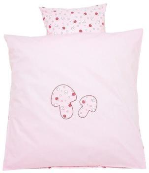 ALVI Bettwäsche Applikationen (80 x 80) Glückspilz rosa